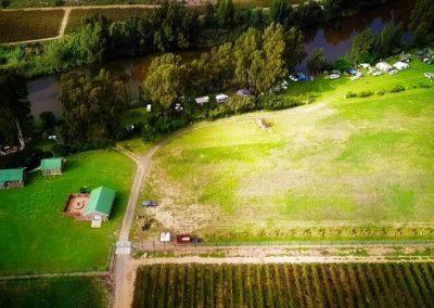 Aerial view of Riggton River Farm